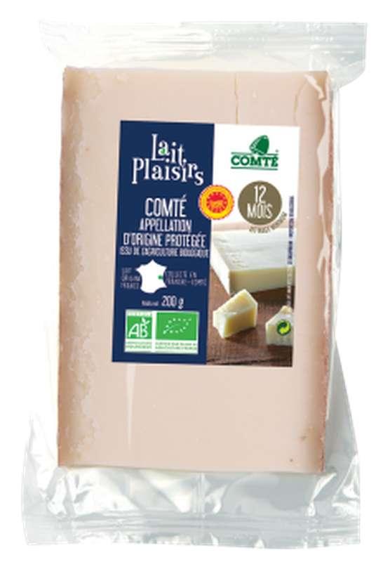 Comté AOP au lait cru BIO, affinage 12 mois, 35 % MG/PF, Lait Plaisirs (200 g)