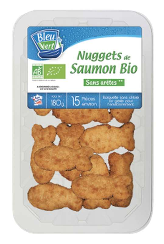Nuggets de saumon BIO, Bleu-Vert (x 15, 180 g)