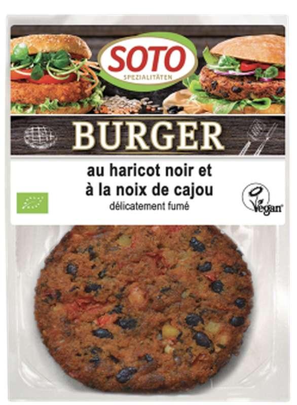 Burger au haricot noir et à la noix de cajou BIO, Soto (x 2, 160 g)