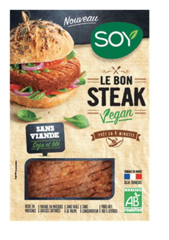 Steak vegan BIO, Soy (x 2, 180 g)