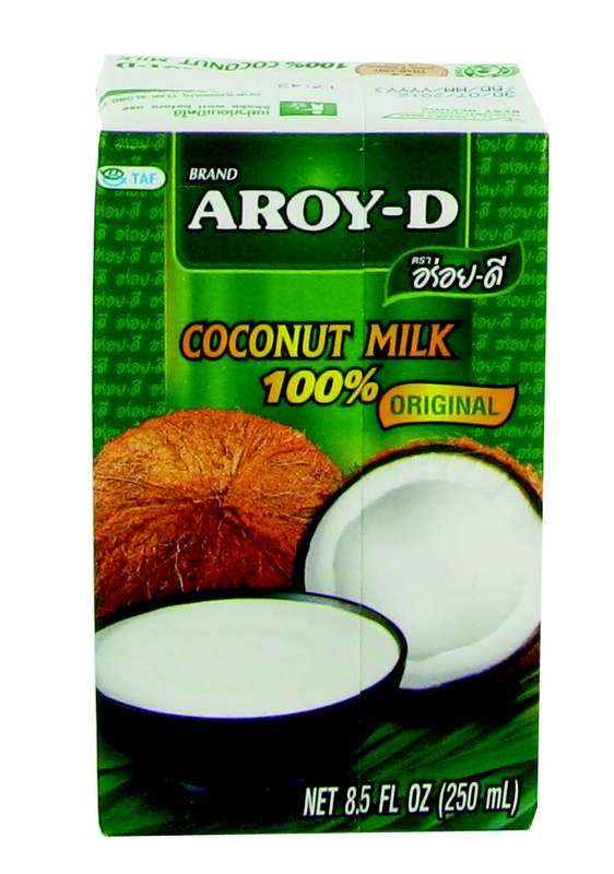 Lait de coco en brique, Aroy-D (25 cl)