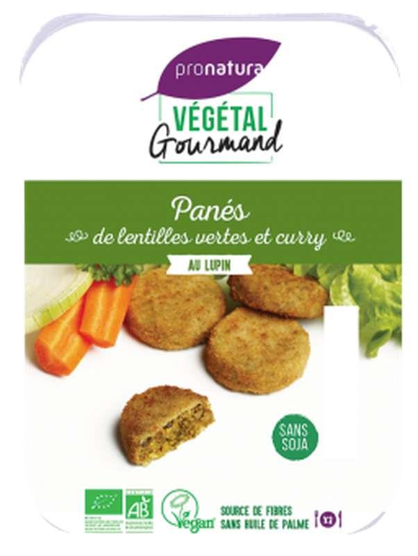 Panés de lentilles vertes et curry BIO, Végétal Gourmand (x 6, 180 g)