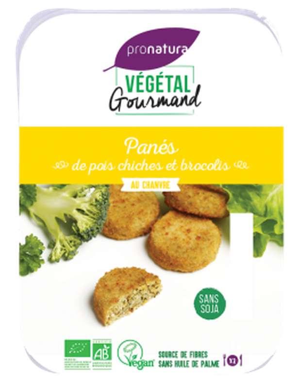 Panés de pois chiches et brocolis BIO, Végétal Gourmand (x 6, 180 g)