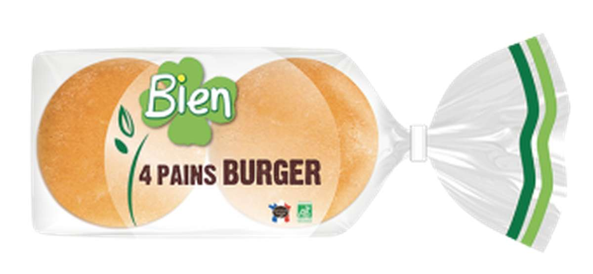 Pain burger BIO, Bien Panification (x 4, 200 g)