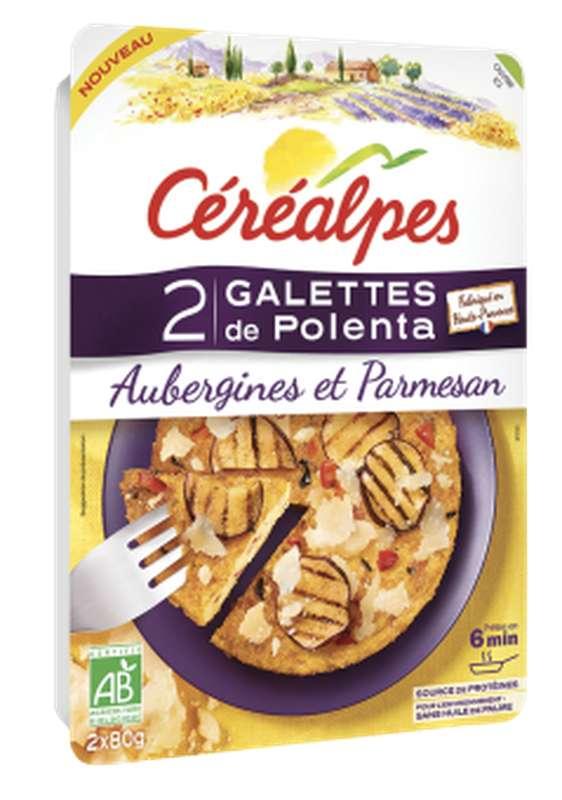 Galettes de polenta aubergines et parmesan BIO, Céréalpes (x 2, 160 g)