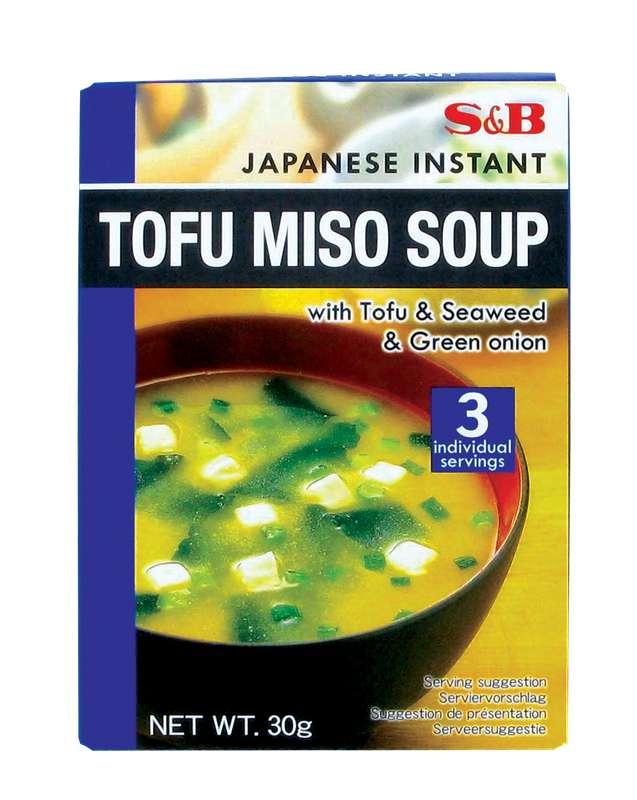 Préparation pour TOFU soupe miso instantanée, S&B (30 g)