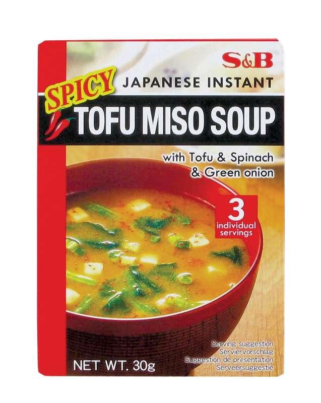 Préparation pour TOFU SPICY soupe miso instantanée, S&B (30 g)