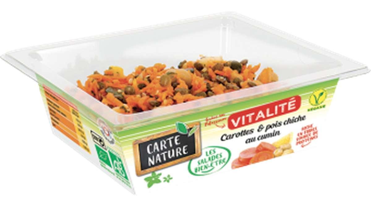 Carottes et pois chiches au cumin Vitalité BIO, Carte Nature (160 g)