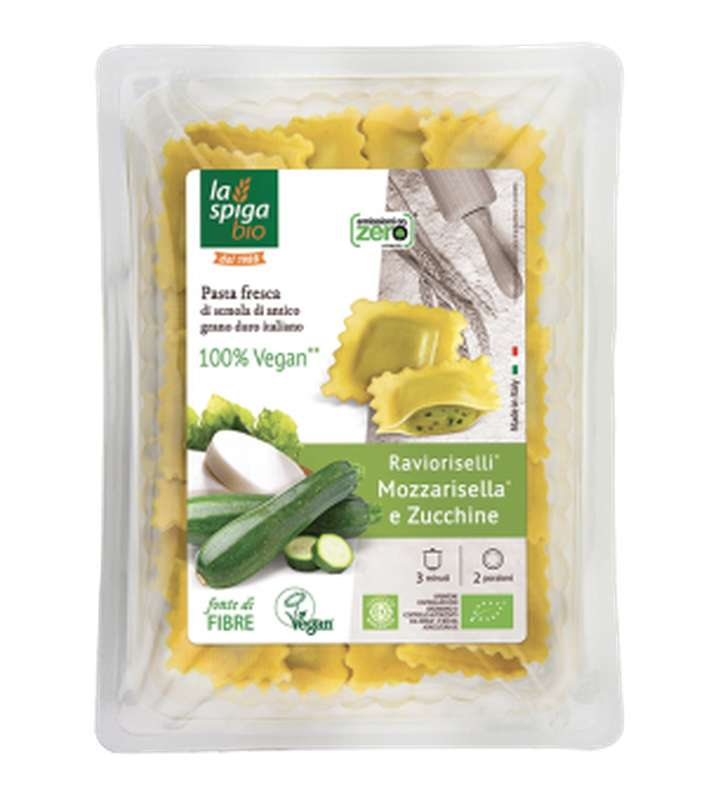 Ravioli MozzaRisella et courgettes BIO, La Spiga Bio (250 g)
