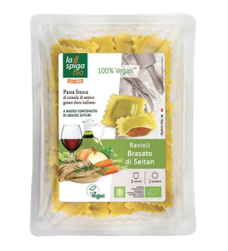 Ravioli au seitan braisé BIO, La Spiga Bio (250 g)