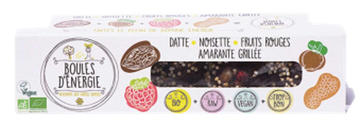 Boule d'énergie fruits rouges BIO, Etape Bio (x 5, 65 g)