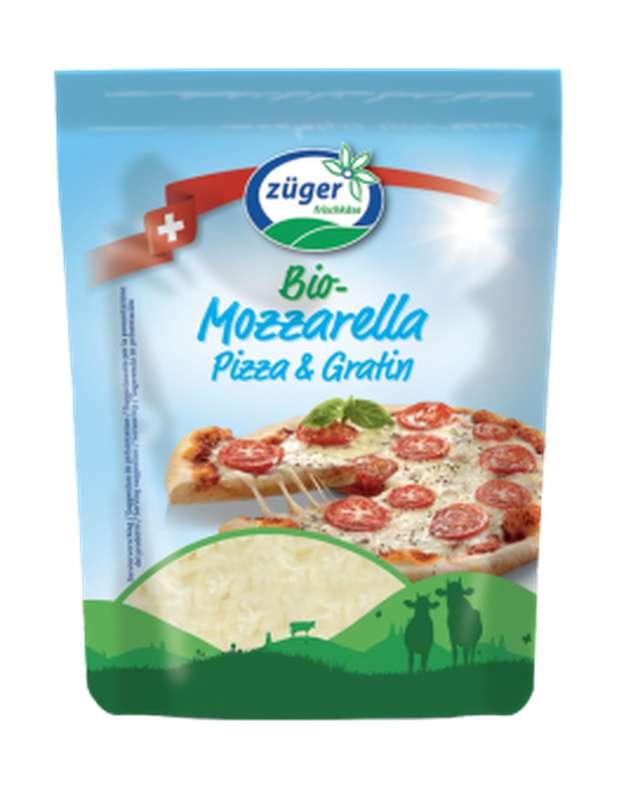 Mozzarella râpée pizza et gratin BIO, Zuger (150 g)