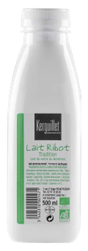 Lait ribot tradition BIO, Kerguillet (500 ml)