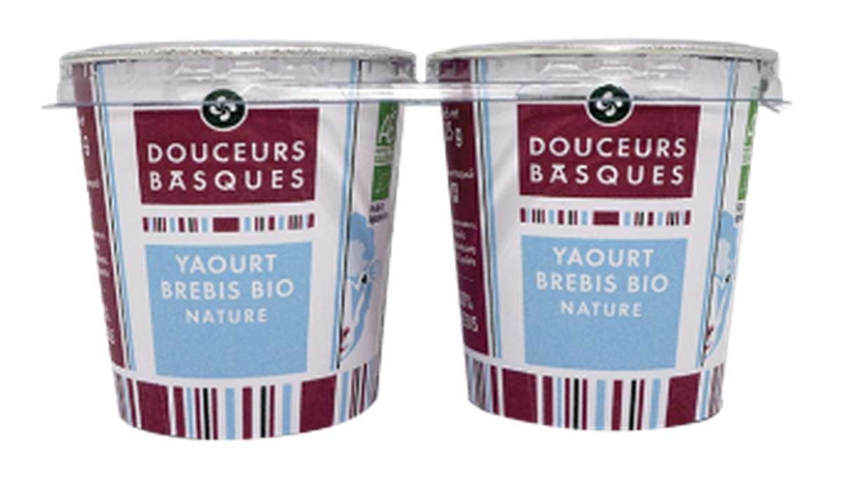 Yaourt brebis nature BIO, Douceurs Basques (x 2, 250 g)