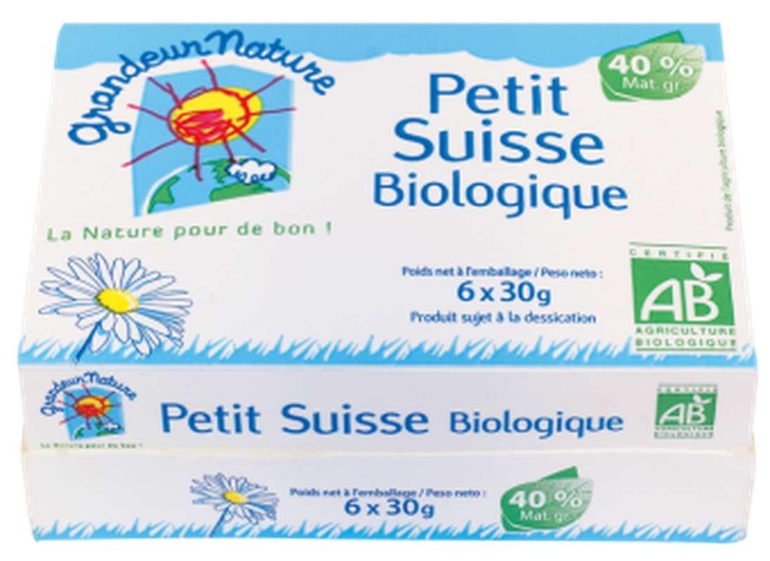 Petit Suisse BIO, Grandeur Nature (x 6, 180 g)