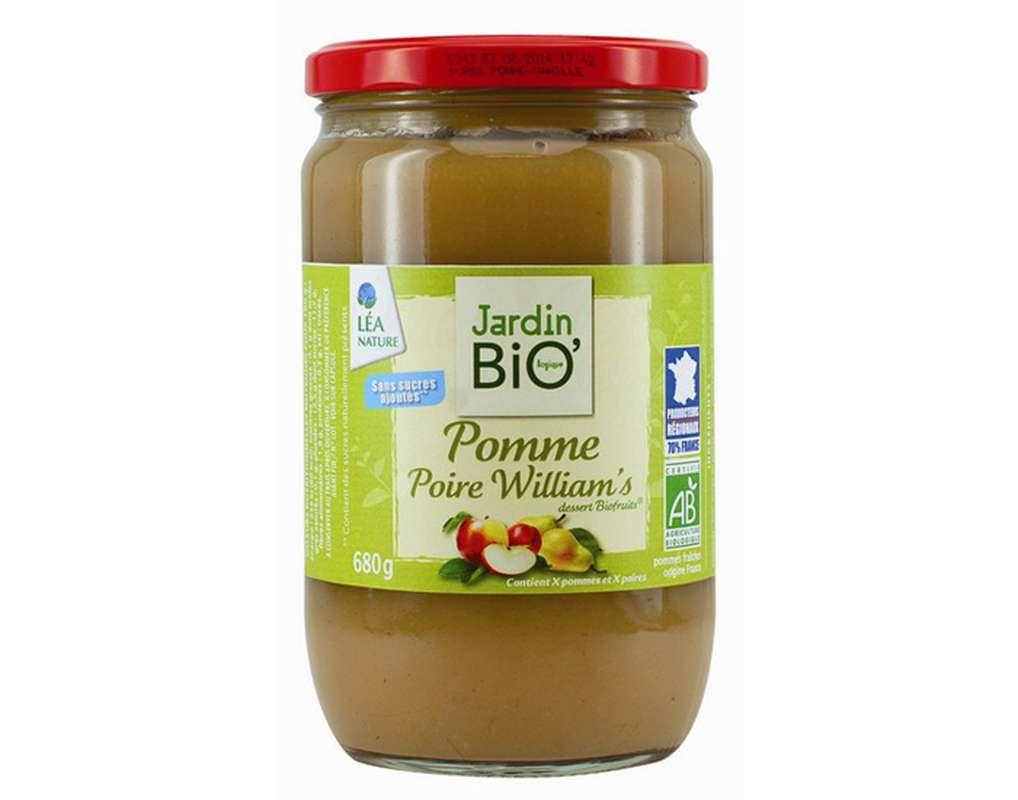 Dessert Pomme Poire BIO, Jardin Bio (680 g)