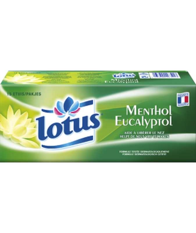 Etuis de mouchoirs menthol, Lotus (x 18)