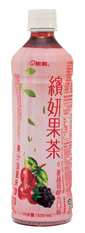 Boisson thé noir arôme raisin et cranberries, Chin Chin (530 ml)