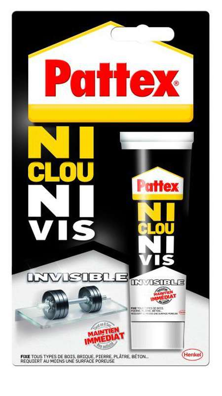 Colle de fixation invisible Ni Clou Ni Vis, Pattex (40 ml)
