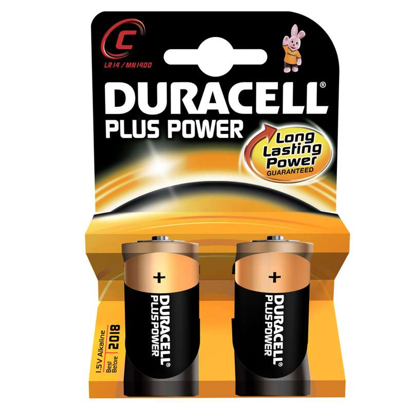 Piles C/LR14 Plus Power, Duracell (x 2)