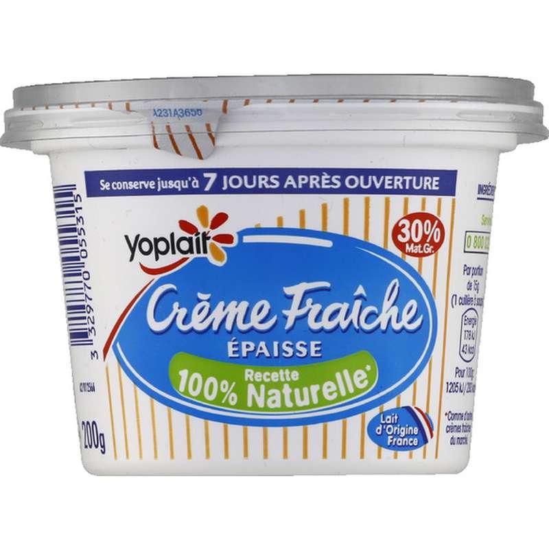 Crème fraiche épaisse 30% de MG, Yoplait (190 g)