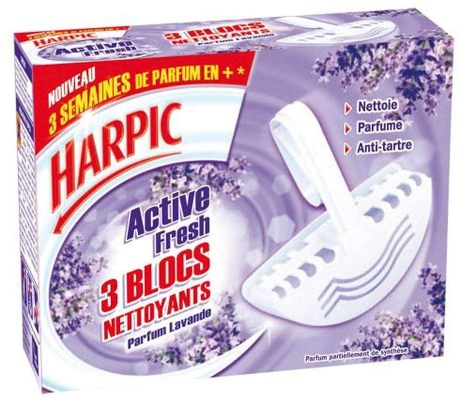 Bloc WC parfumés Lavande, Harpic (x 3)