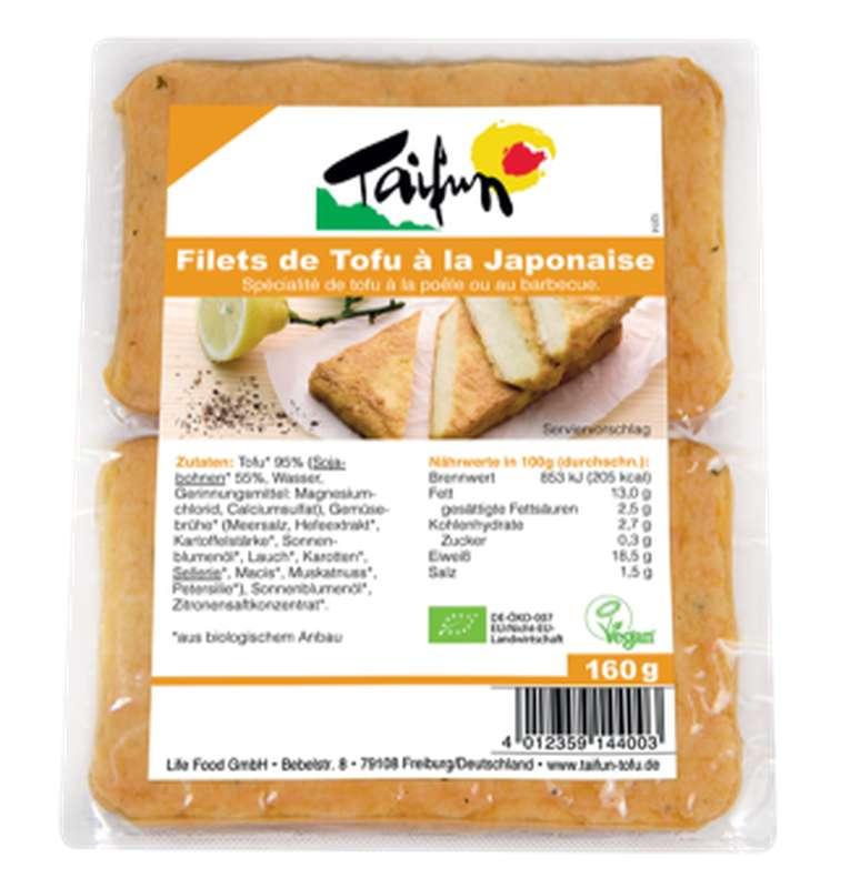 Filets de tofu à la Japonaise BIO, Taifun (x 2, 160 g)