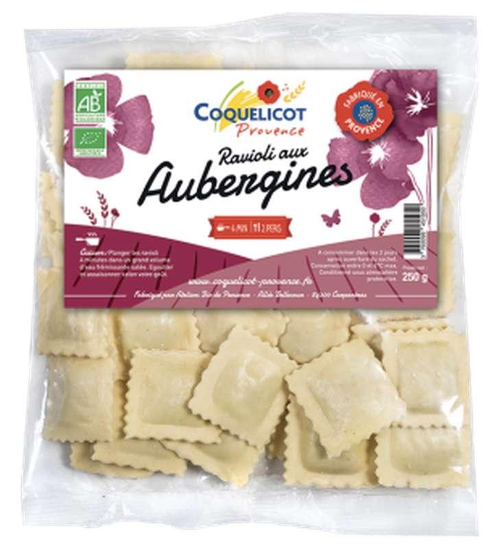 Ravioli frais aux aubergines BIO, Coquelicot (250 g)