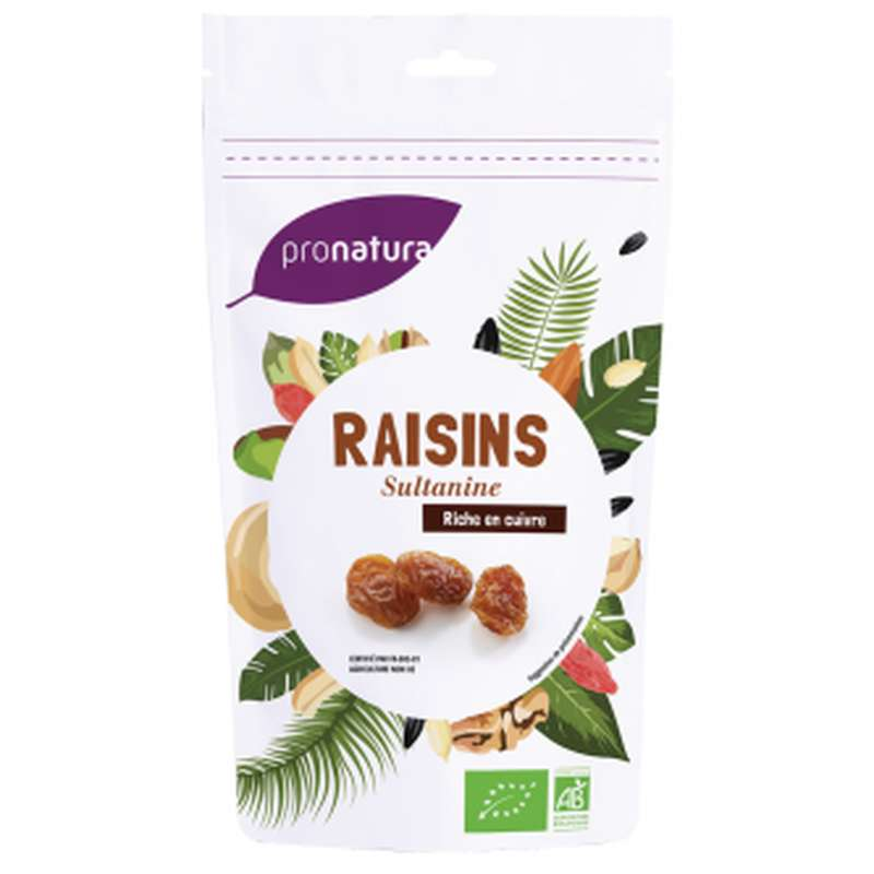 Raisins secs sultanine BIO, Pronatura (250 g), Turquie