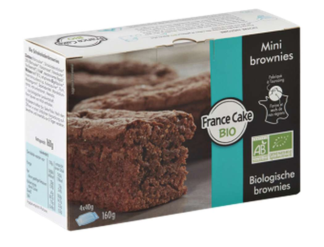 Mini-brownie au chocolat BIO , France Cake Tradition (x 4, 160 g)