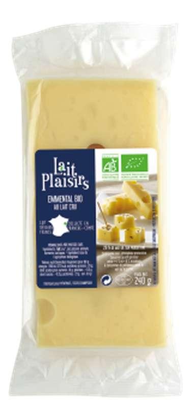 Emmental au lait cru BIO, 31 % MG/PF, Lait Plaisirs (240 g)