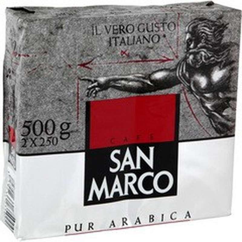 Cafe moulu pur arabica, San Marco (2 x 250 g)