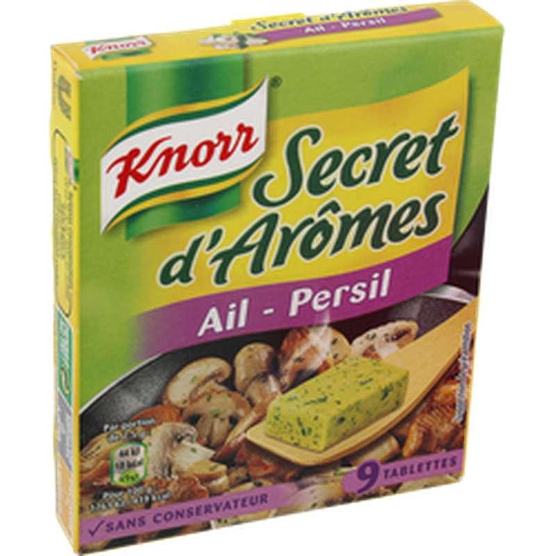 Secret d'arôme ail et persil, Knorr (x 9, 90 g)