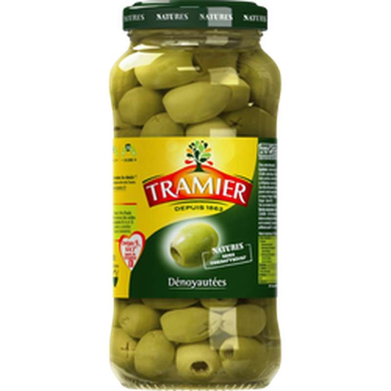 Olives vertes dénoyautées, Tramier (260 g)
