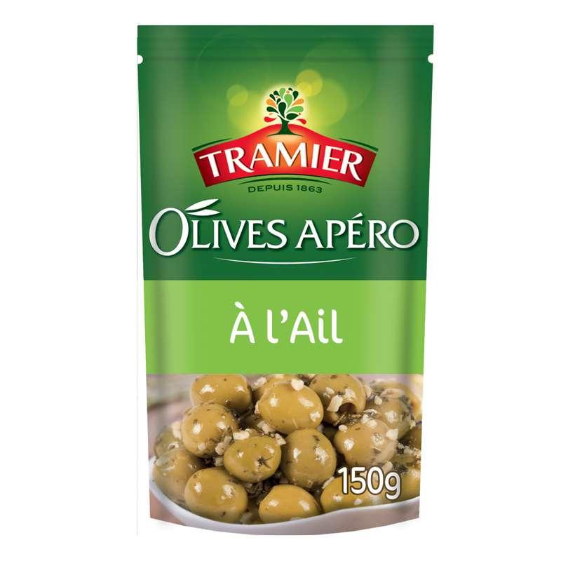 Olives vertes apéro à l'ail, Tramier (150 g)