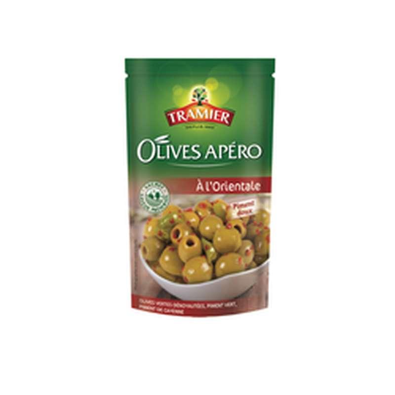 Olives vertes dénoyautées à l'orientale, Tramier (150 g)
