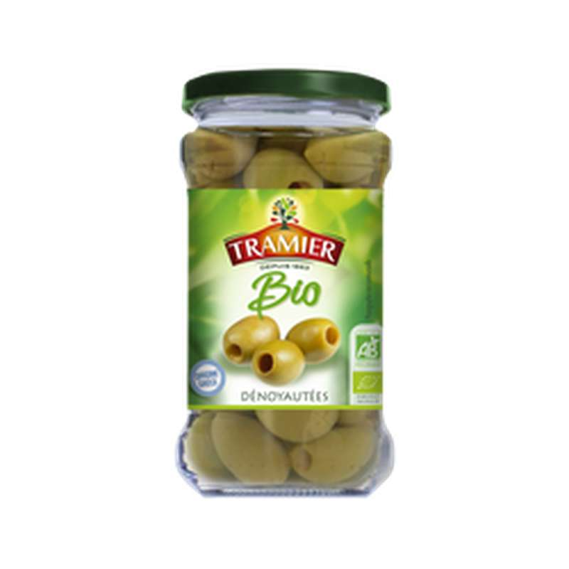 Olives vertes dénoyautées BIO, Tramier (130 g)