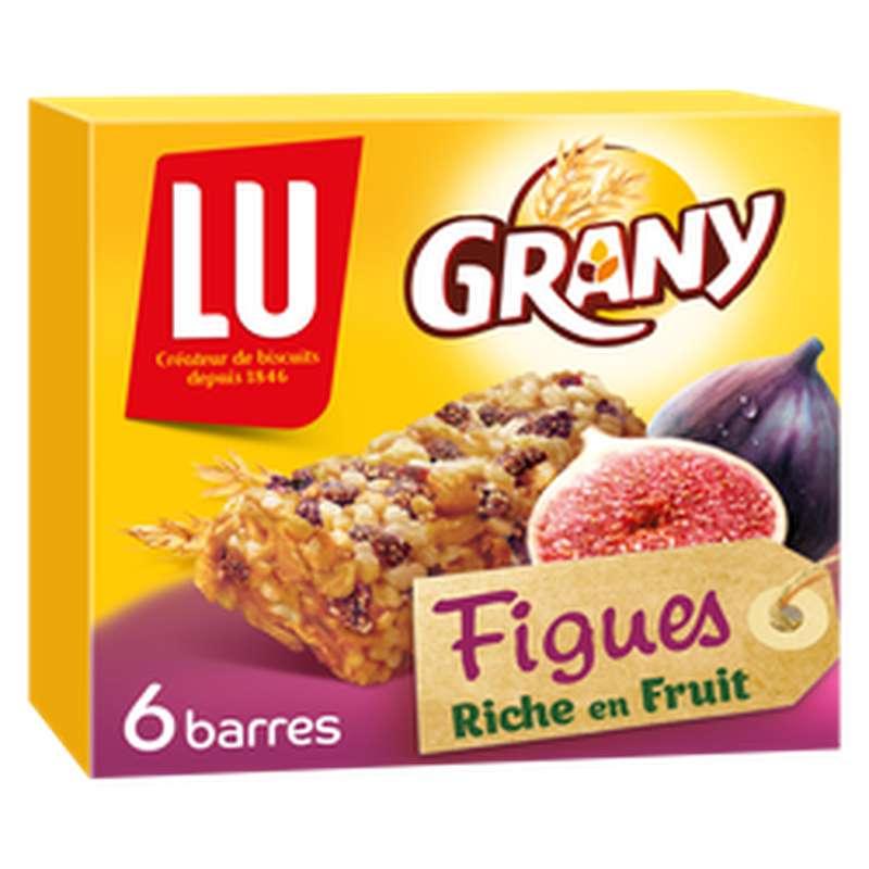 Barres de céréales aux Figues Grany, Lu (x 6, 125 g)