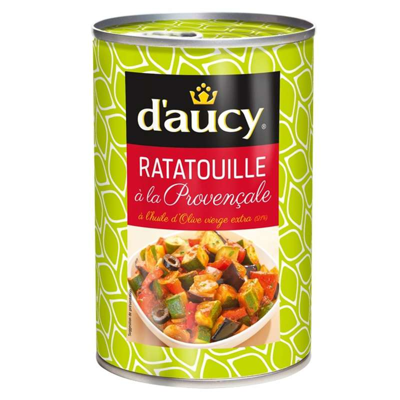 Confit de ratatouille à l'huile d'olive, d'Aucy (375 g)