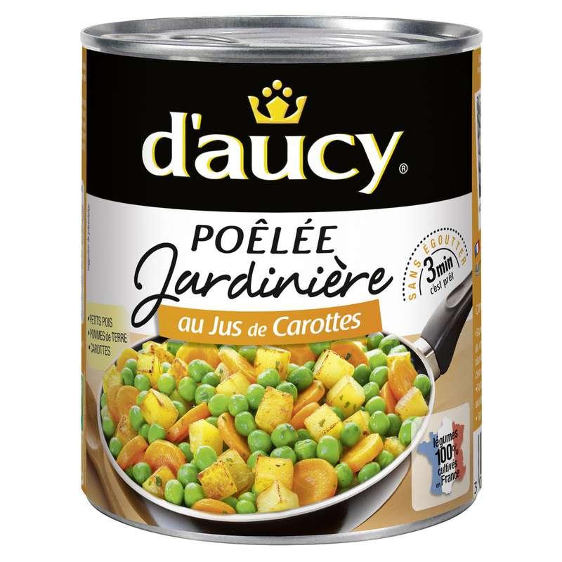 Légumes cuisinés jardinière au jus de carottes, d'Aucy (580 g)