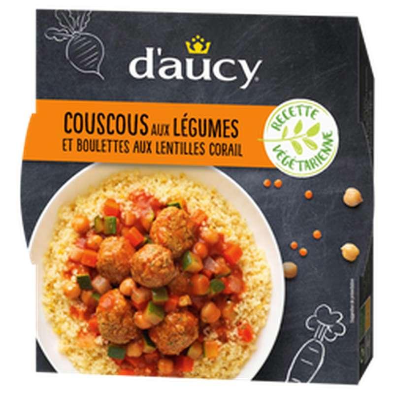 Couscous et boulettes de légumes recette végétarienne, d'Aucy (320 g)