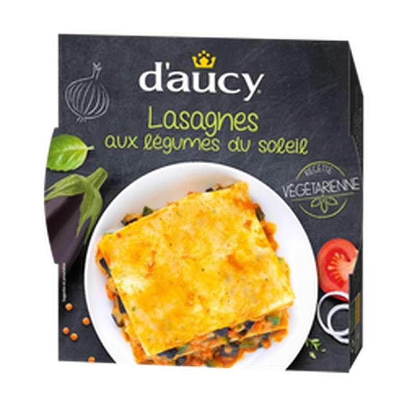 Lasagnes aux légumes du soleil recette végétarienne, d'Aucy (320 g)