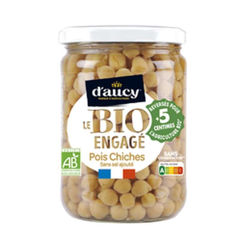 Pois chiches sans sel ajouté BIO, D'aucy (530 g)