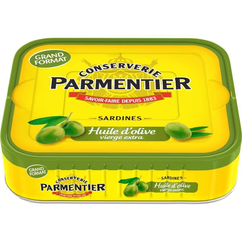 Sardines à l'huile d'olive vierge extra, Parmentier (232 g)
