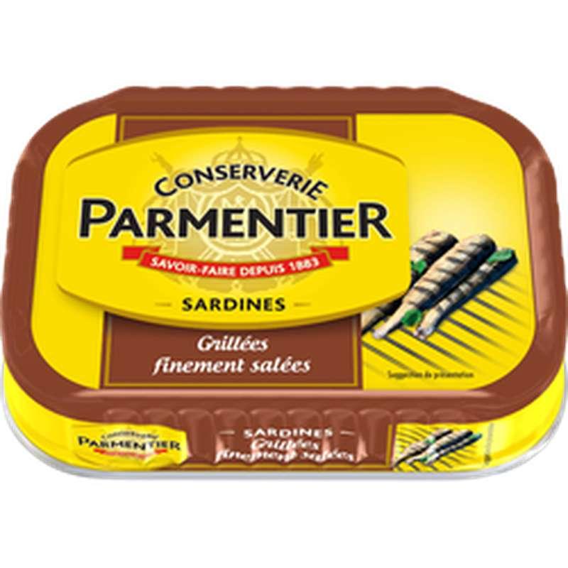 Sardines grillées nature finement salées, Parmentier (100 g)