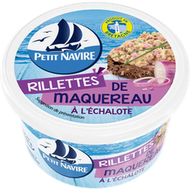Rillettes de maquereaux à l'échalote, Petit Navire (125 g)
