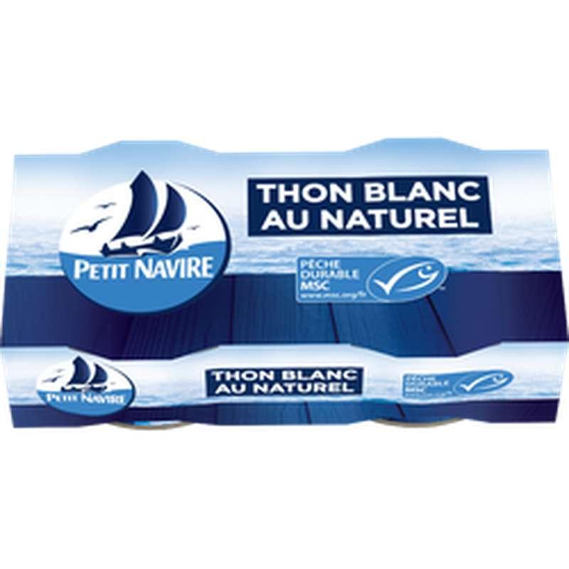 Thon blanc naturel msc, Petit Navire (2 x 56 g)