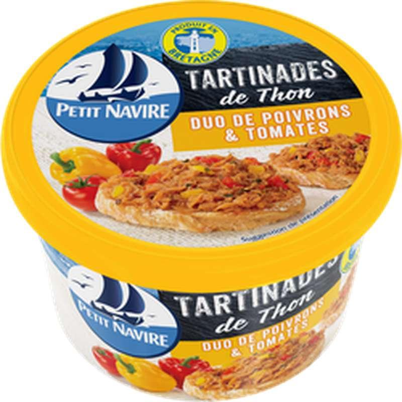 Tartinade de thon duo poivrons et tomates, Petit Navire (125 g)