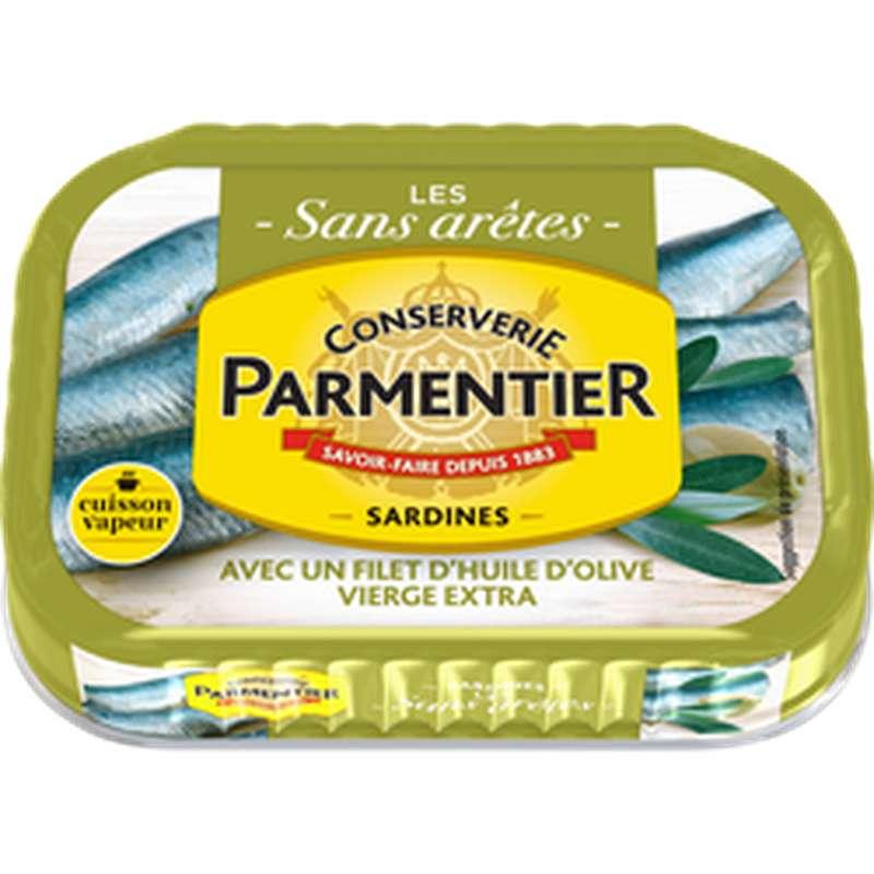 Sardines avec filet d'huile d'olive vierge extra cuisson vapeur, Petit Navire (135 g)