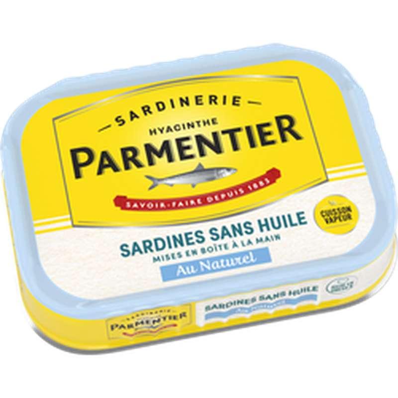 Sardines sans huile au naturel, Parmentier (135 g)